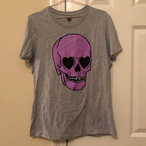Modcloth Next Level Skull Tee